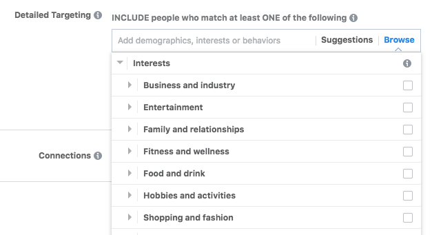 facebook interests list tree