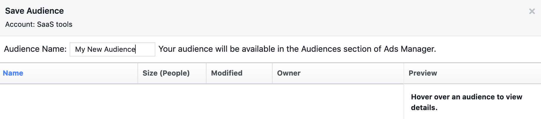 save audience facebook audience insights
