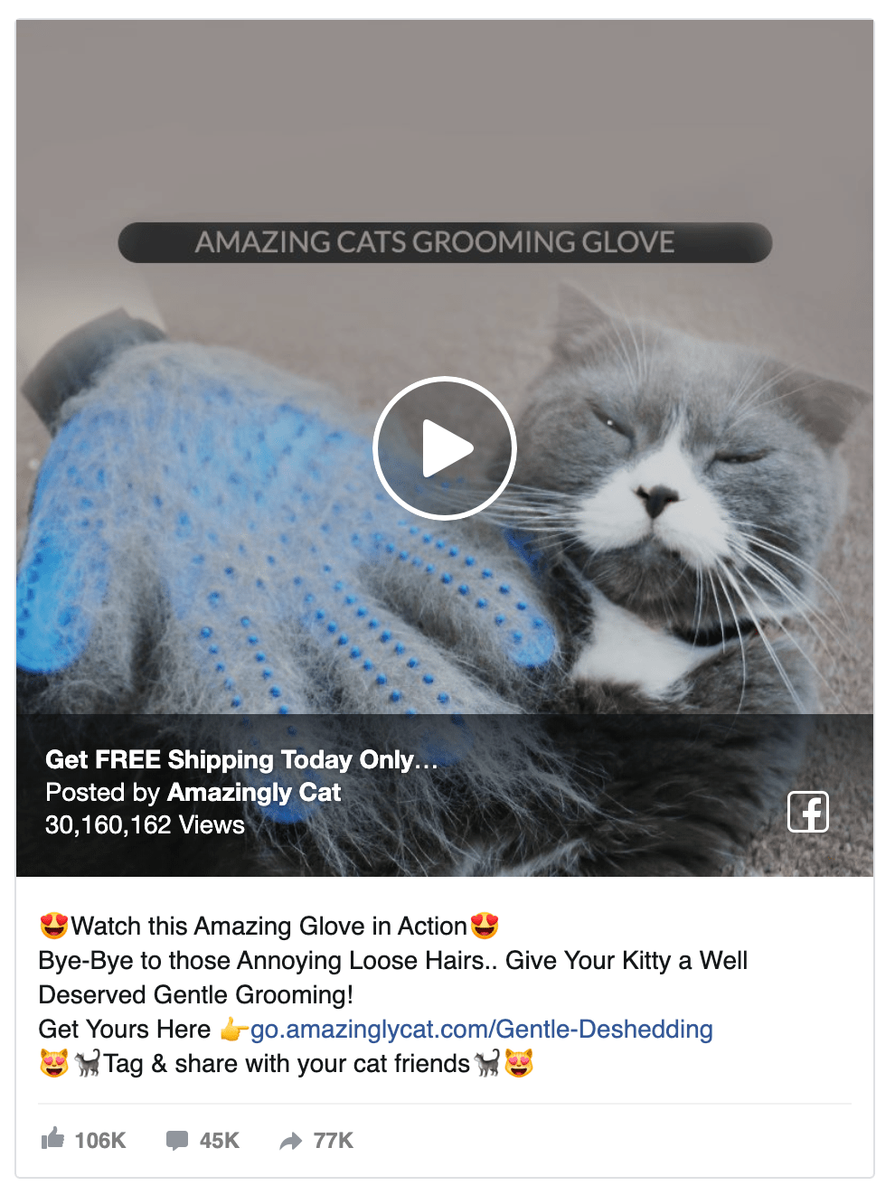 cat-glove-facebook-ad-for-dropshipping