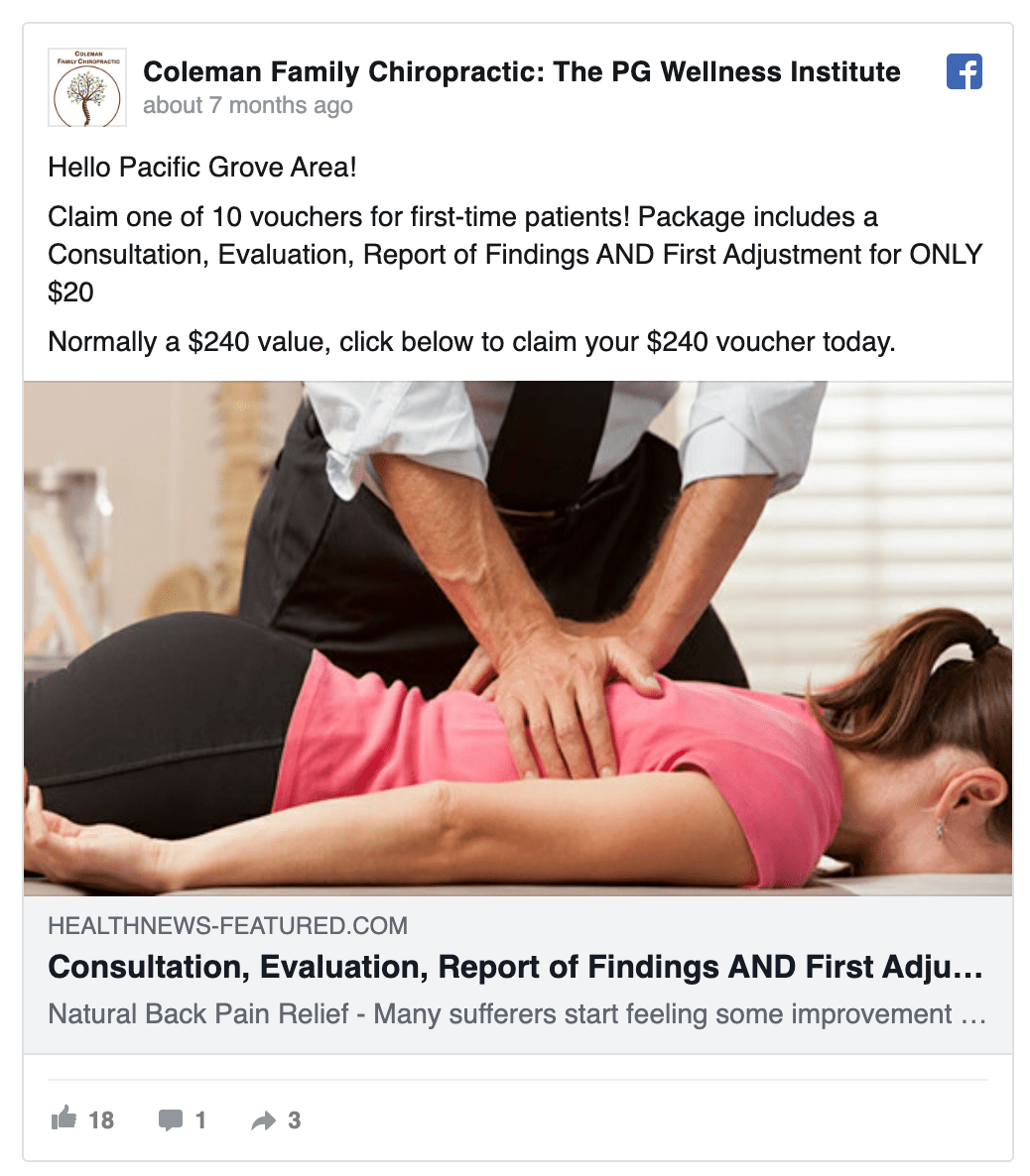 coleman-family-chiropractic-facebook-ad