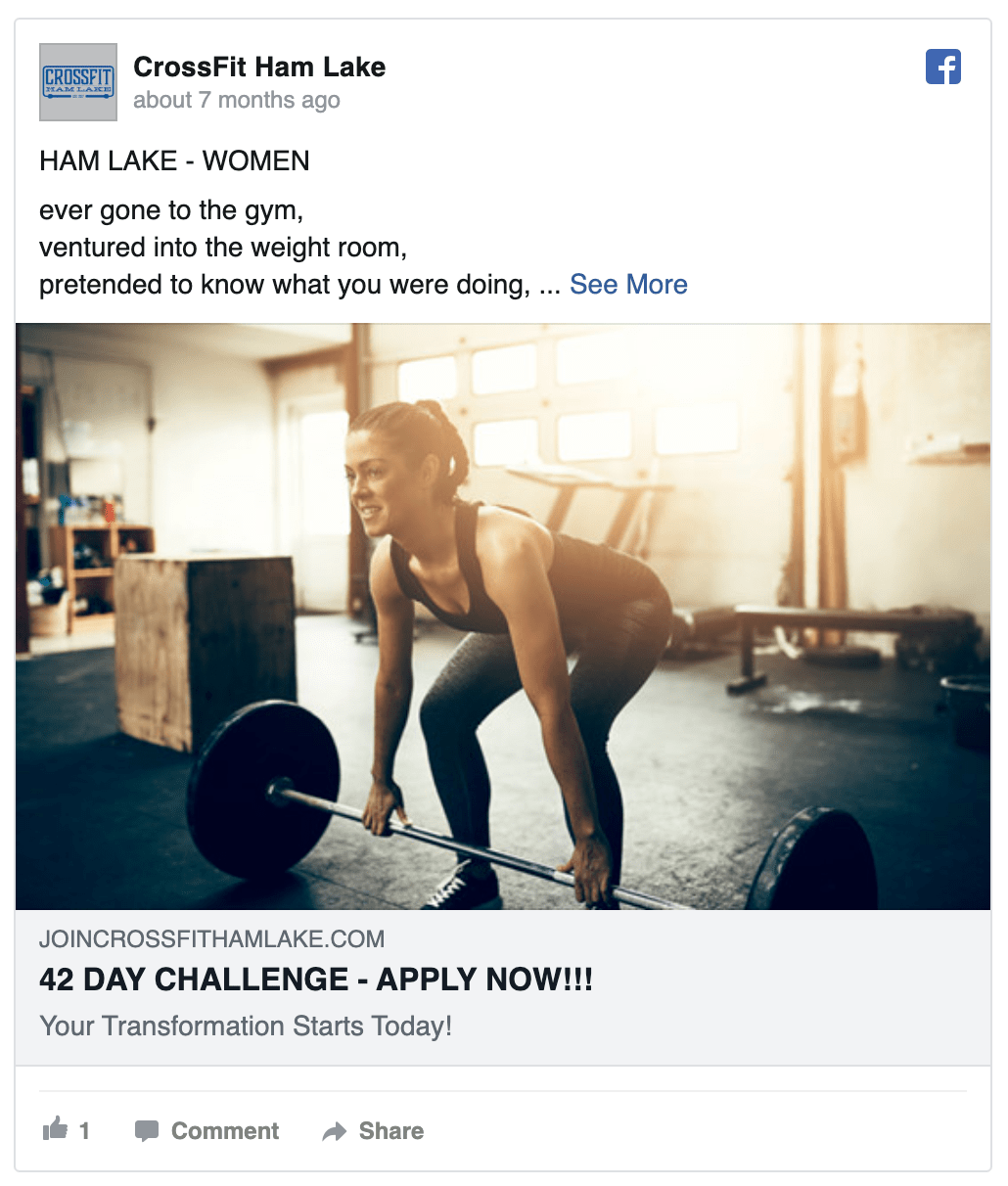 crossfit-ham-lake-facebook-ad
