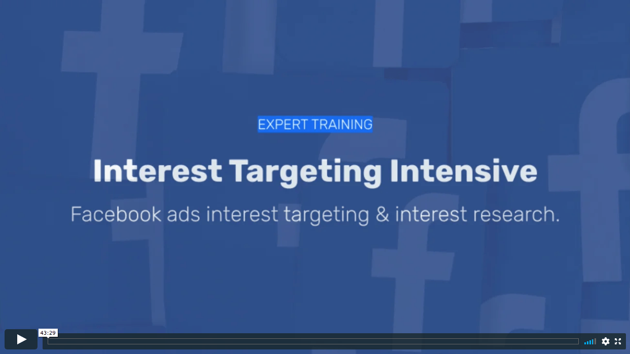 interest targeting intensive