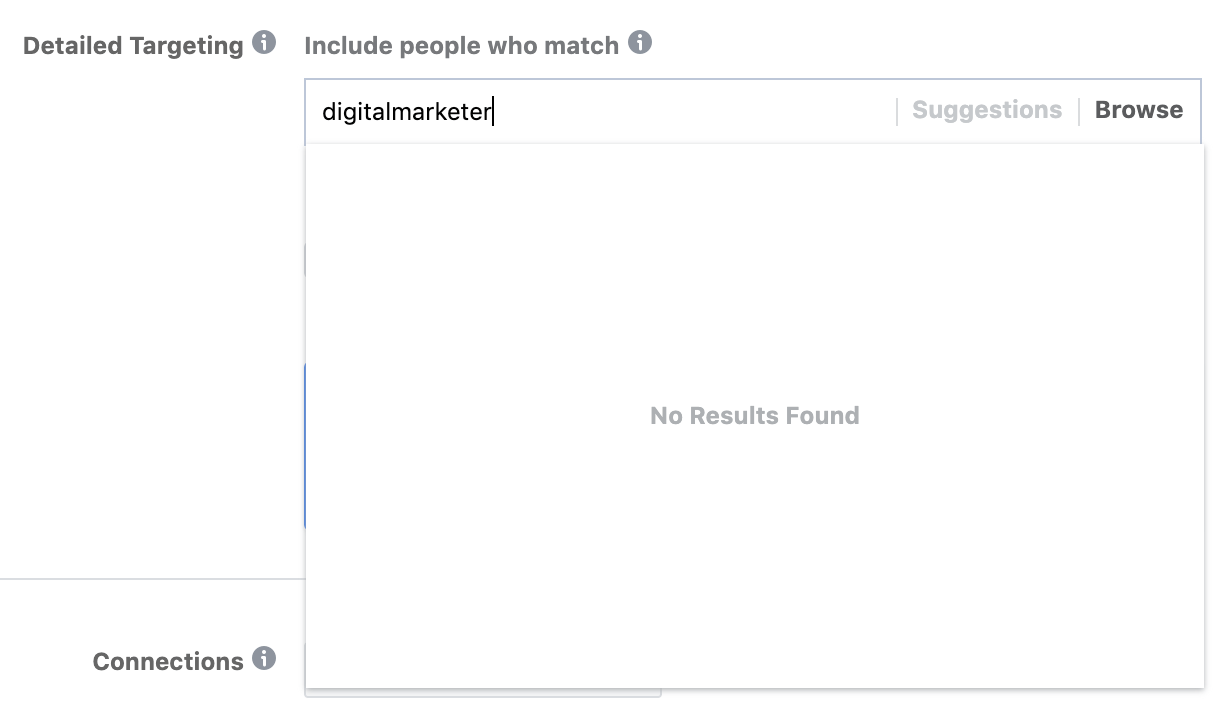 facebook ads manager no results found