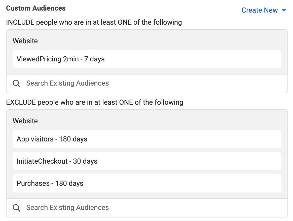 facebok retargeting custom audience