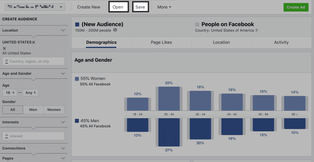 facebook audience insights to create audiences
