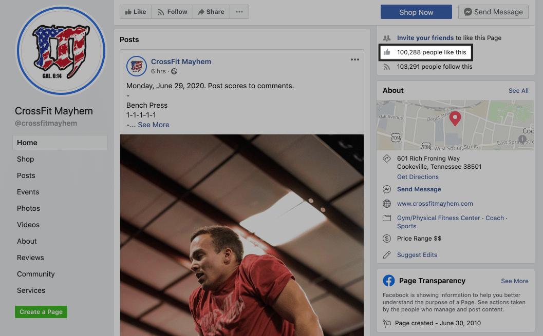 crossfit mayhem facebook page