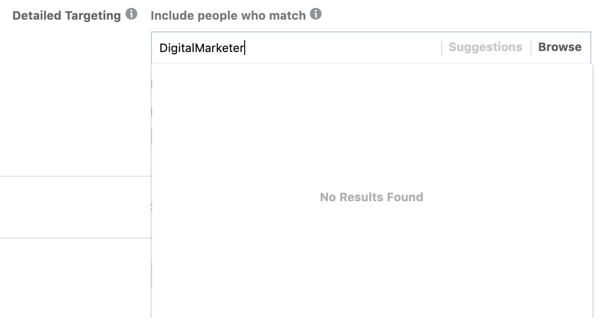 digitalmarketer no interest found