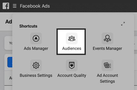 facebook ads manager audiences
