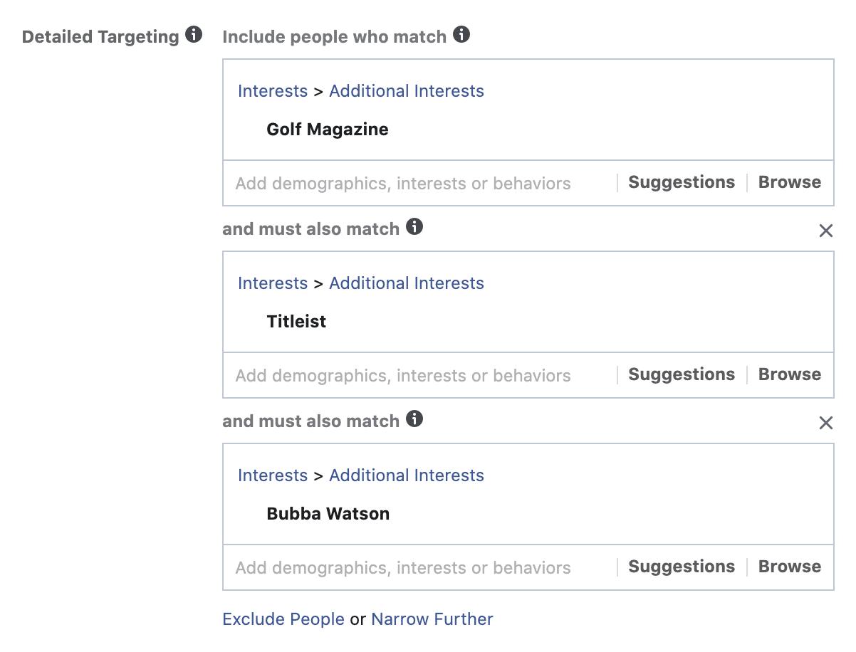 layered facebook interests