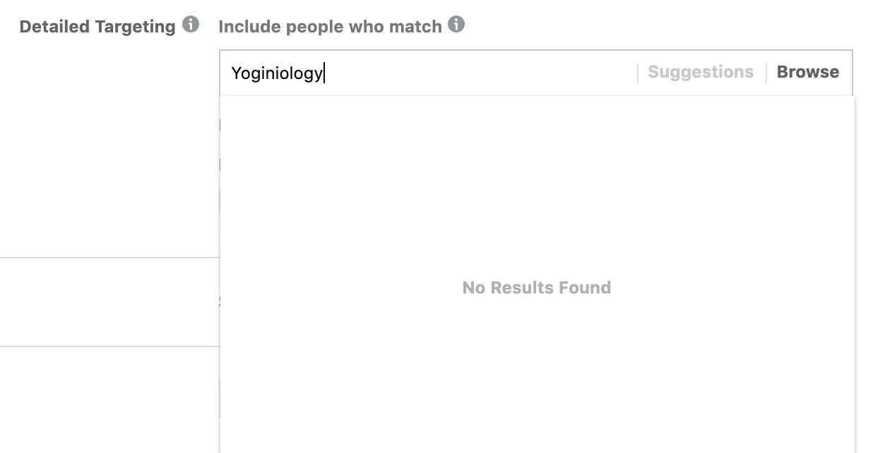 yoginiology no results found