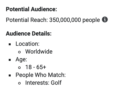 massive golf audience