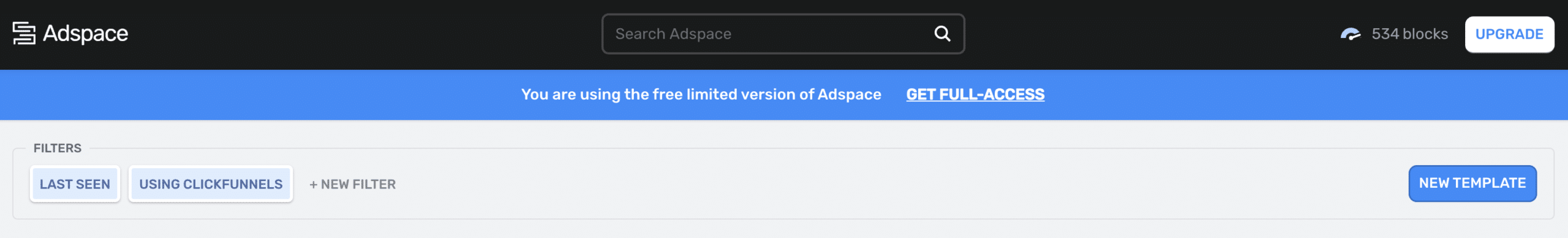 adspace free trial