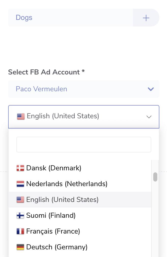 connectexplore facebook languages