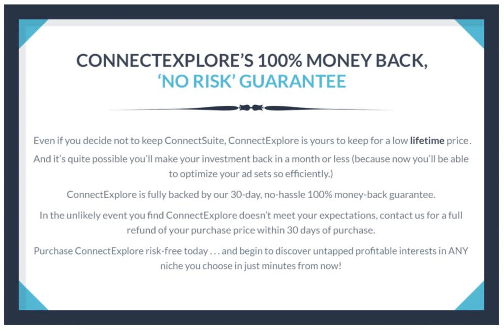 connectexplore guarantee