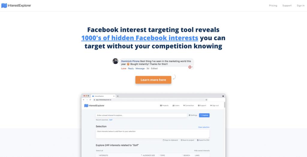 interestexplorer homepage